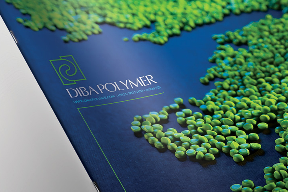 Graphic design for DIBA POLYMER Company