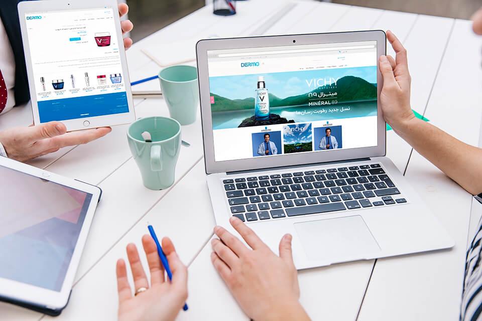 طراحی فروشگاه اینترنتی درموشاپ